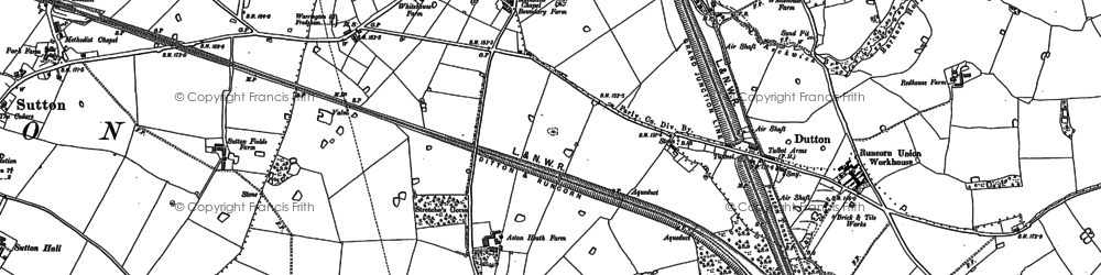 Old map of Aston Heath in 1879