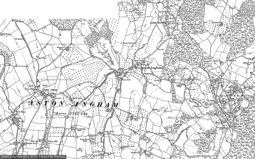 Old Map of Aston Ingham, 1903 in 1903