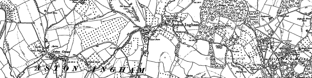 Old map of Aston Ingham in 1903