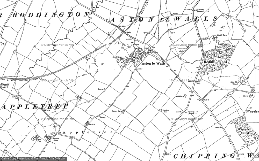 Old Map of Aston le Walls, 1899 in 1899
