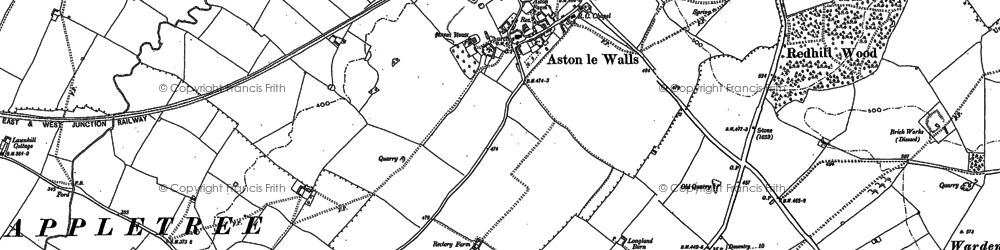 Old map of Aston le Walls in 1899