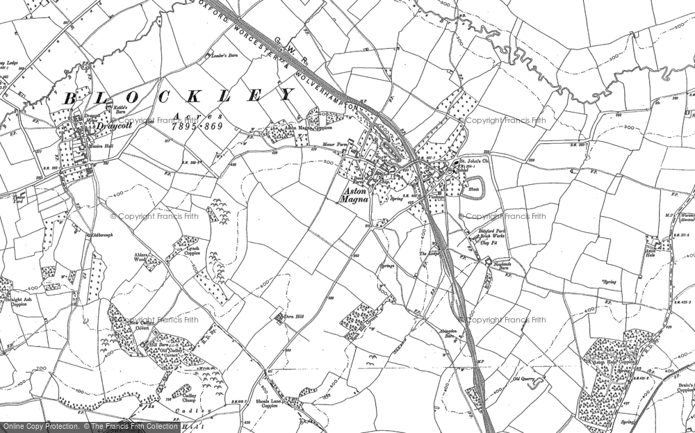 Old Map of Aston Magna, 1900 in 1900