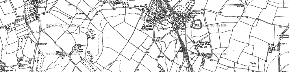 Old map of Aston Magna in 1900