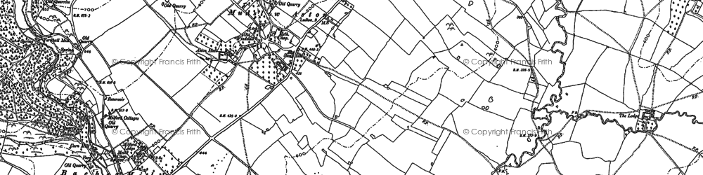 Old map of Aston Munslow in 1883