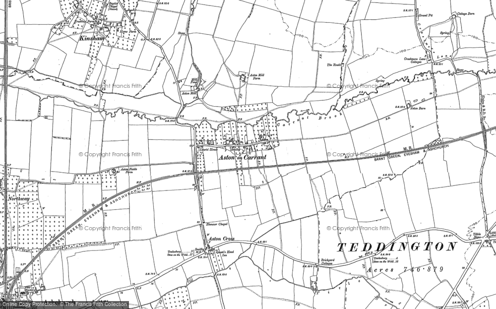 Old Map of Aston on Carrant, 1900 - 1901 in 1900