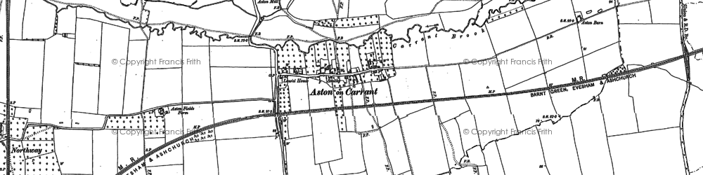 Old map of Aston on Carrant in 1900