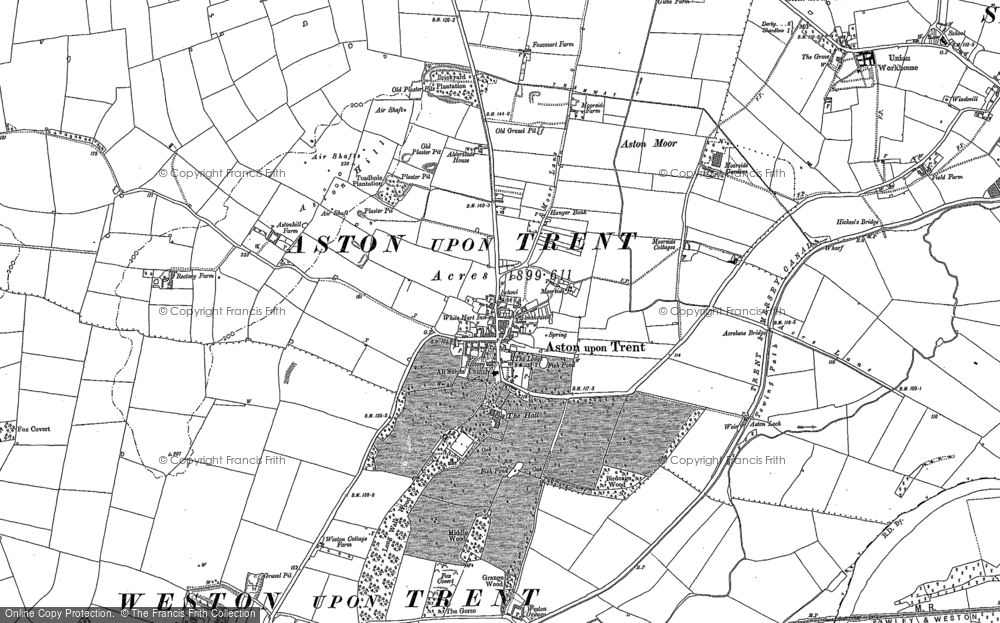 Old Map of Aston-on-Trent, 1899 in 1899