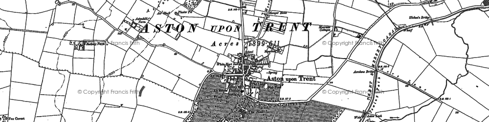Old map of Weston Grange in 1899