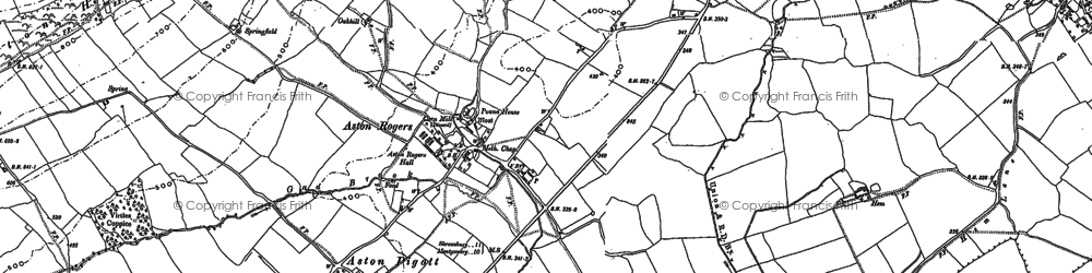 Old map of Aston Rogers in 1881