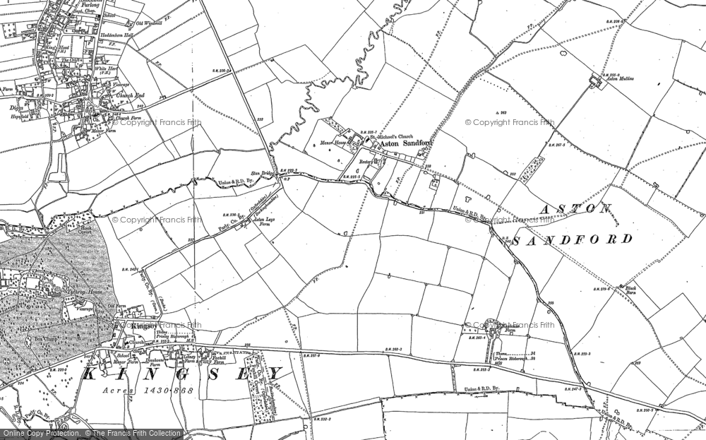 Old Map of Aston Sandford, 1898 - 1919 in 1898