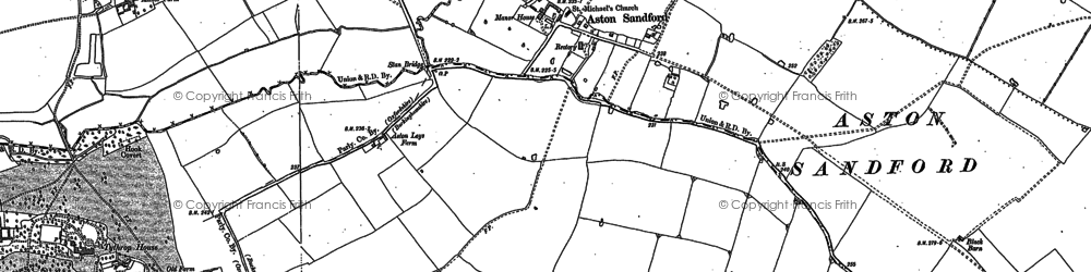 Old map of Aston Sandford in 1898