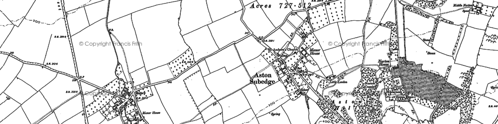 Old map of Aston Subedge in 1900