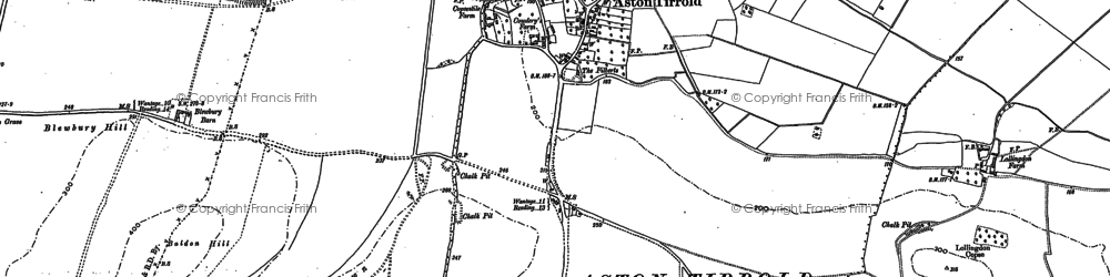 Old map of Aston Tirrold in 1898