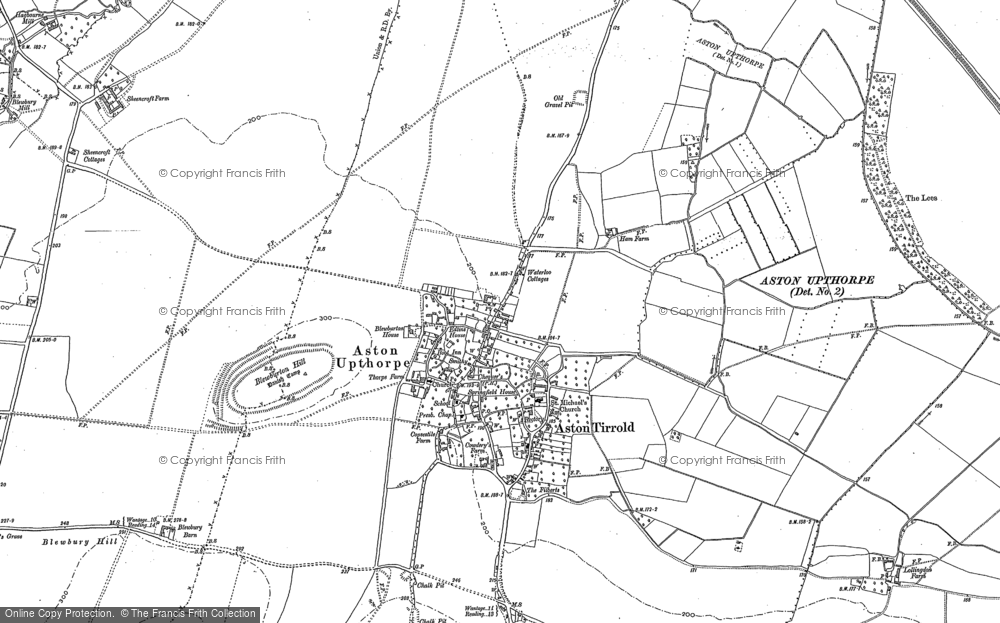 Old Map of Aston Upthorpe, 1898 - 1910 in 1898