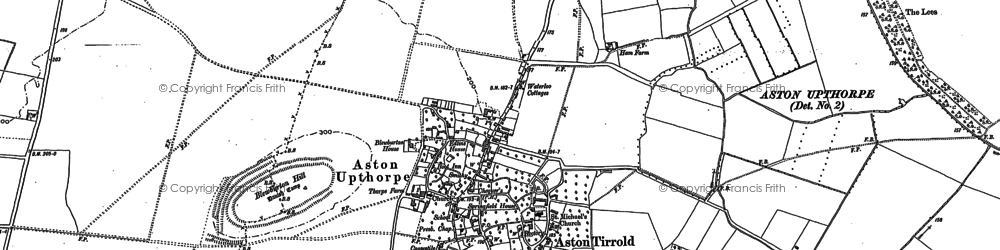 Old map of Aston Upthorpe in 1898