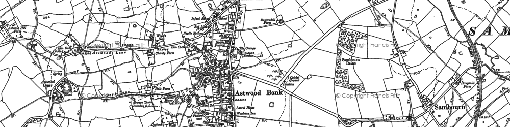 Old map of Astwood Bank in 1903