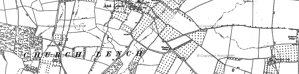 Old map of Atch Lench in 1884