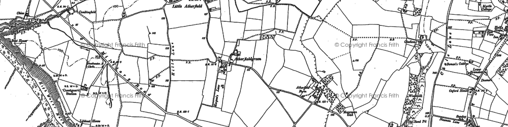 Old map of Atherfield Green in 1907