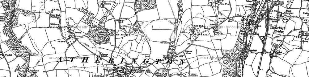 Old map of Langridgeford in 1886