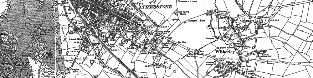 Old map of Atherstone in 1901