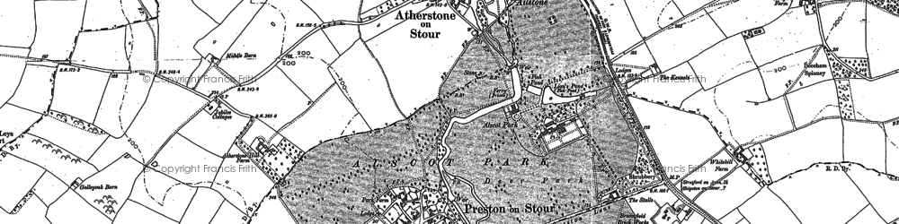 Old map of Ailstone in 1883