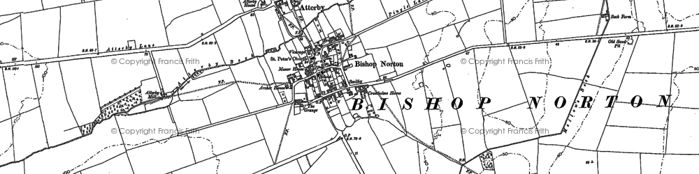 Old map of Atterby in 1881