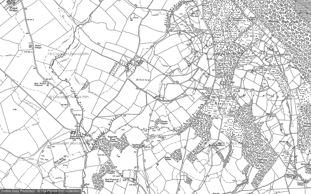 Old Map of Atterley, 1882 in 1882