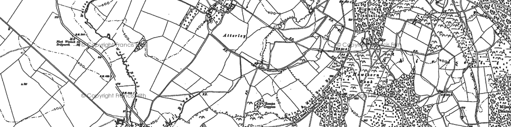 Old map of Atterley in 1882
