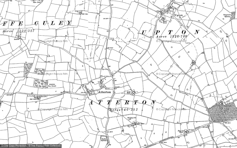 Old Map of Atterton, 1885 - 1901 in 1885