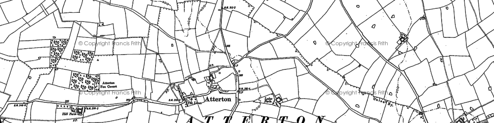 Old map of Atterton in 1885