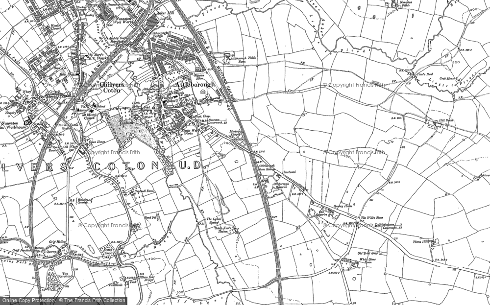 Old Map of Attleborough, 1902 in 1902