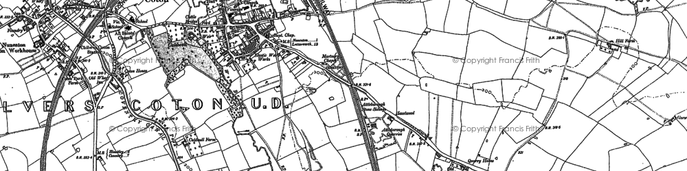 Old map of Attleborough in 1902