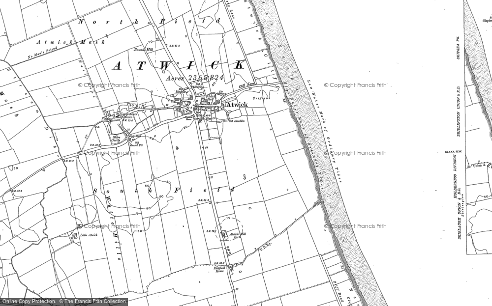 Old Map of Historic Map covering Atwick Sands in 1909