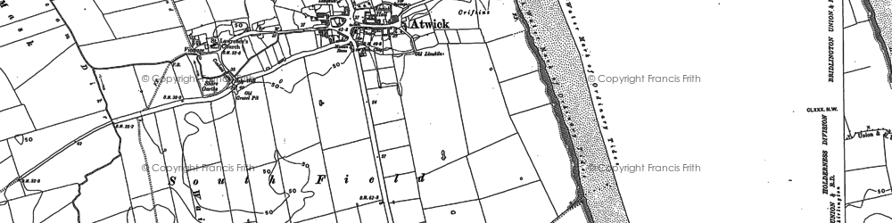 Old map of Atwick in 1909