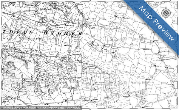Old Map of Historic Map covering Auchlunkart in 1896