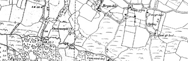 Old map of Auchmadies centred on your home