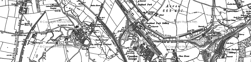 Old map of Auckland Park in 1896