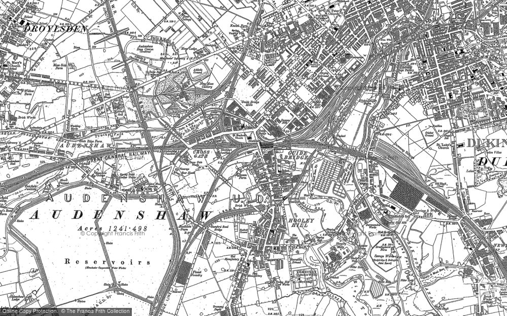 Old Map of Audenshaw, 1906 in 1906