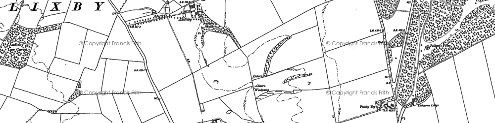Old map of Audleby in 1886