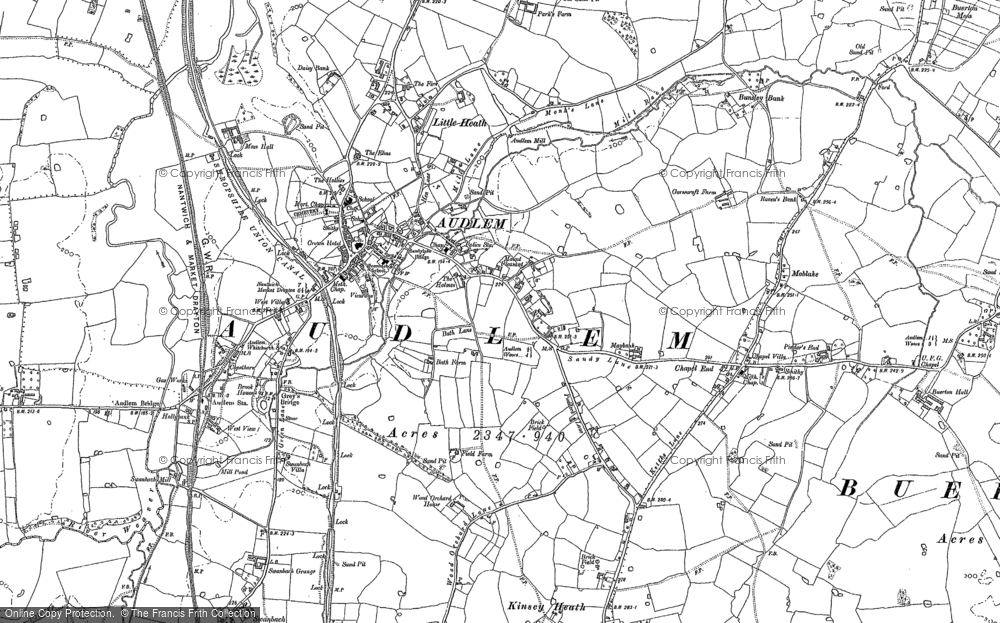 Old Map of Audlem, 1899 in 1899