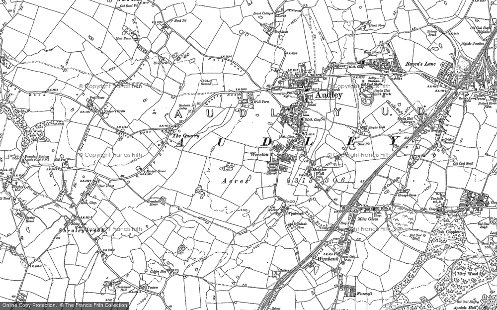 Old Map of Audley, 1898 in 1898