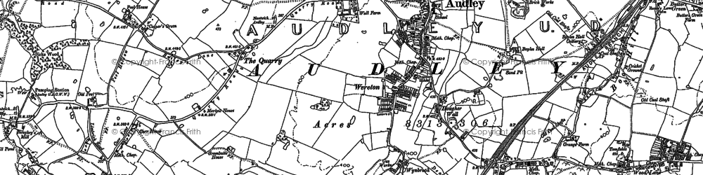 Old map of Audley in 1898