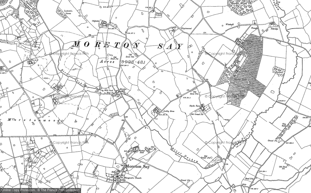 Old Map of Audley Brow, 1879 - 1880 in 1879