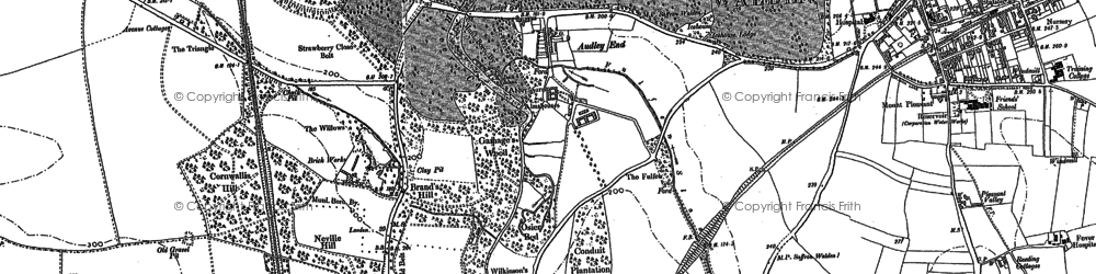 Old map of Audley End in 1896