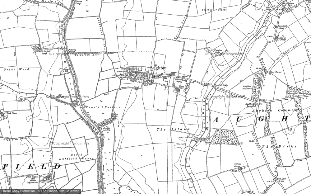 Old Map of Aughton, 1889 in 1889