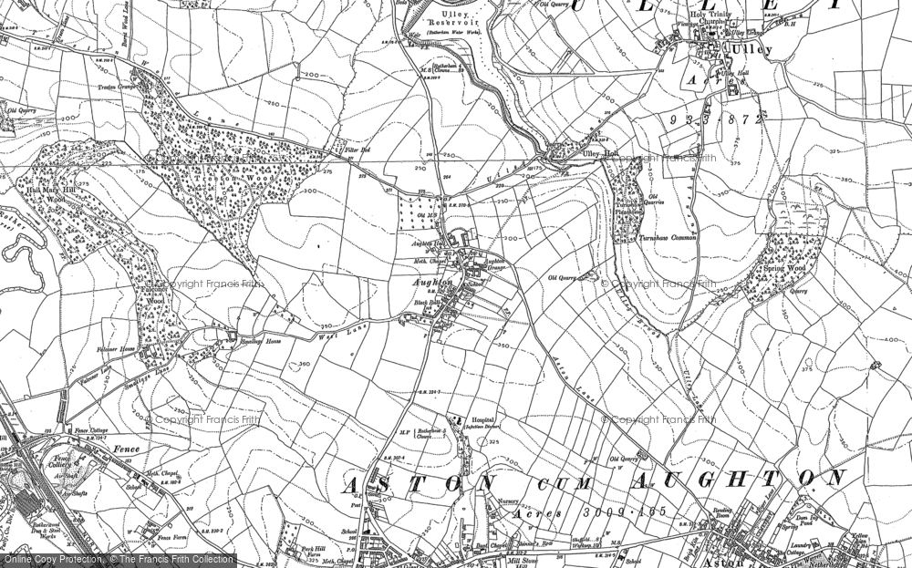 Old Map of Aughton, 1890 - 1891 in 1890