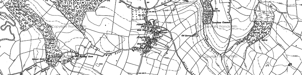 Old map of Aughton in 1890