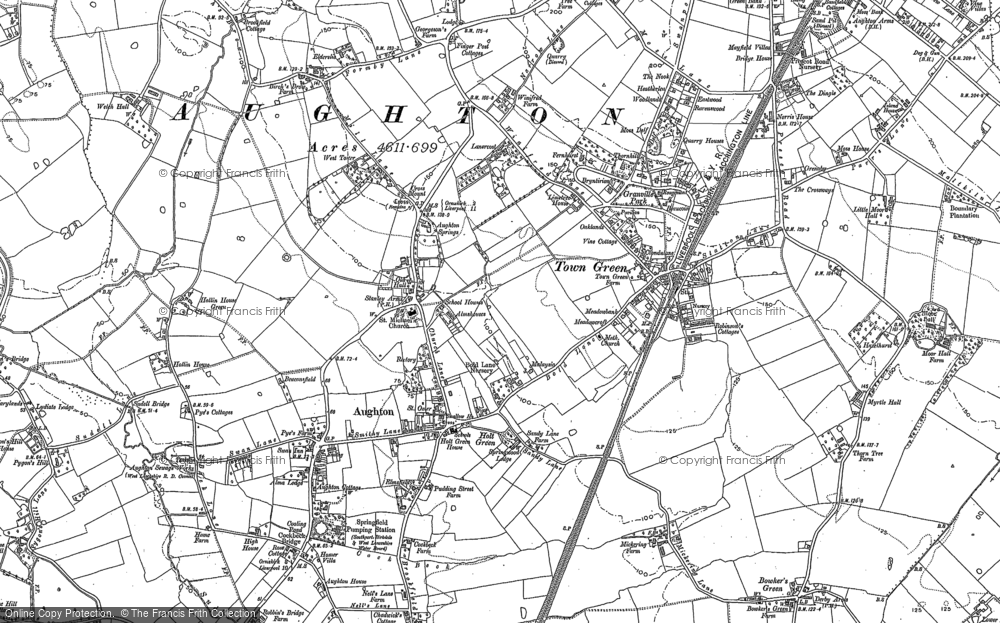 Old Map of Aughton, 1891 - 1892 in 1891