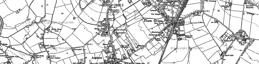 Old map of Bowker's Green in 1891