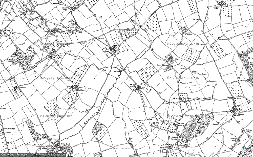 Old Map of Aulden, 1885 - 1886 in 1885